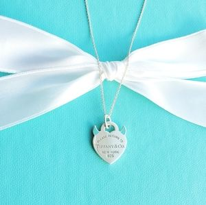 Evil heart tag necklace